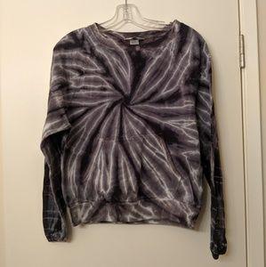 Hard tail tie dye crew neck sweater